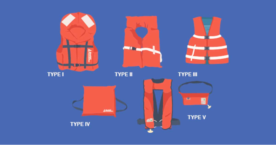 5 different types of live vests